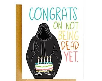 Funny Birthday Card, Funny Grim Reaper Card, Birthday Card, Funny Cards, Birthday Card, Funny Card, Unique Birthday Card, Funny Cards