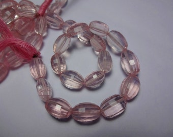4-inch strand Gorgeous AAAA quality Rose Quartz faceted step cut oval transparent 100% natural GW436