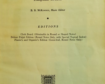 Vintage Broadman Hymnals