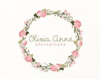 floral logo wreath flowers premade logo - Logo Design #301