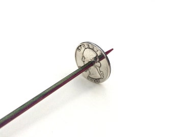 Silver Coin Tahkli Support Spindle Washington Quarter Supported Spinning of Handspun Lace Yarn or Thread - like Russian or Tibetan or Takhli