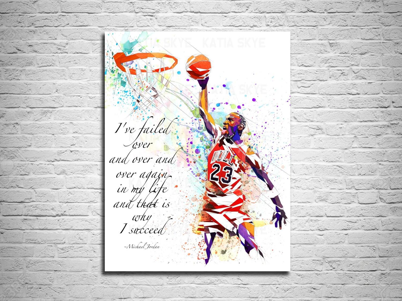 Kunstdruck auf Leinwand Kunstdruck von Michael Jordan Dunk