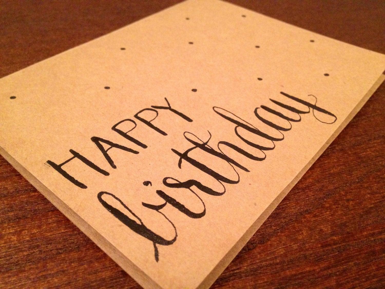 Modern calligraphy birthday card happy birthday x