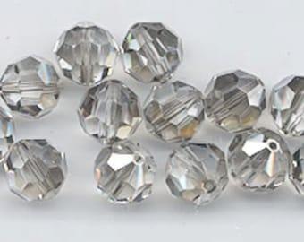 "12 Swarovski crystals with ""satin"" effect - art. 5000 - crystal satin - 8 mm"