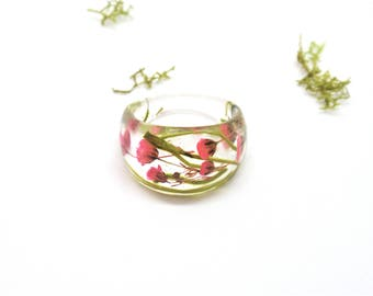 Nature ring Pressed flowers jewelry, Real flower ring, Resin ring,  Floral jewelry, Botanical ring, Natural ring, Jewellery, bridesmaid