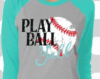 Baseball svg, Play Ball Y'all svg, Baseball Mom svg, distressed Baseball svg, dxf, eps, png, svgs, iron on decal, baseball team svg, png