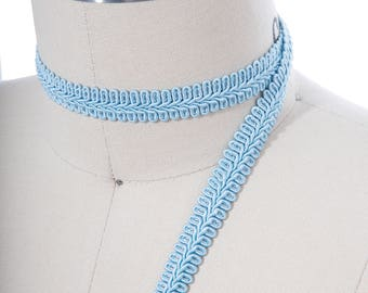 """2 Yards Baby blue Furniture Gimp/ 1/2"""" Gimp Adds Elegance & Charm to Upholstery, Valences, and other home decor items"""