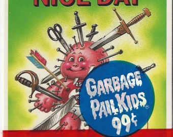 Vintage Topps Chewing Gum Inc. Garbage Pail Kids 3 Giant Stickers, C1986