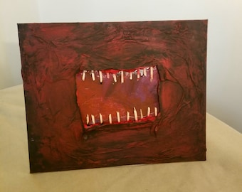 Teeth OOAK Mixed Media Artwork