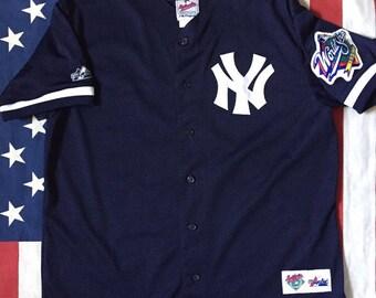 Vintage New York Yankees World Series Majestic Jersey