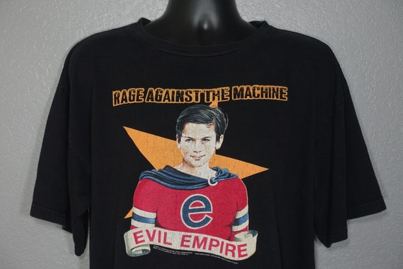 1996 RARE Rage Against The Machine - Evil Empire - Double Sided Fear is Your Only God - Crimebusters Giant Branded Concert Vintage T-Shirt