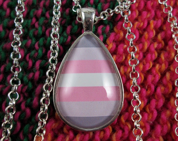 Demigirl Pride - Demigirl Pride Flag Pendant Necklace