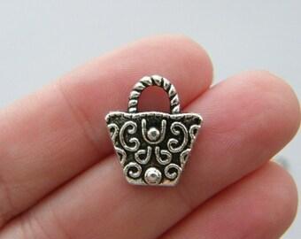 BULK 50 Handbag charms antique silver tone CA184