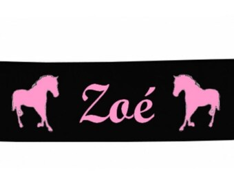 Black girl horse personalized with name banner