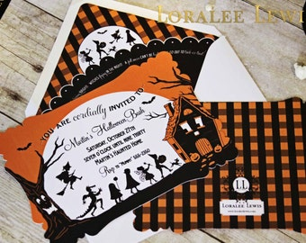 Personalized Children's Silhouette Invitation Set by Loralee Lewis