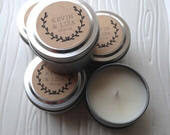 Custom Wedding Favor Candles - 2oz