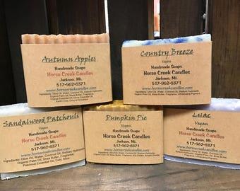 Homemade organic soaps