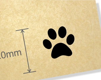 Clear Acrylic Stamp.Paw Print stamp