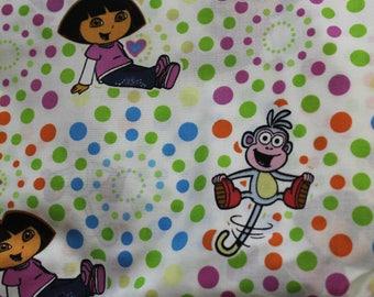 Dora & Boots  100% cotton fabric Viacom Int.
