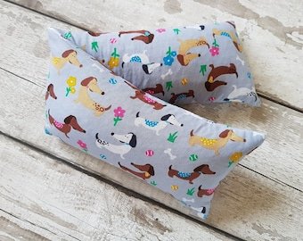 wheat bag dachshund sausage dog extra large lavender or no lavender wheat bag injury recovery  in pet cotton fabric