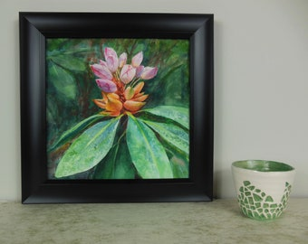 Pink Beauty, original watercolor floral painting
