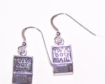 Sterling Silver LAPTOP COMPUTER Earrings -  French Earwires -