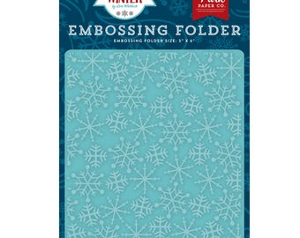 Frosty Snowflakes Embossing Folder, Echo Park Paper Embossing Folder, Falling Snow, Snowfall