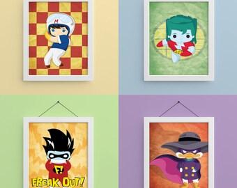 Cartoon Heroes 8x10 Prints