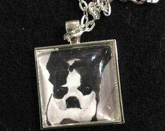 Boston Terrier #2 - 25mm art print pendant