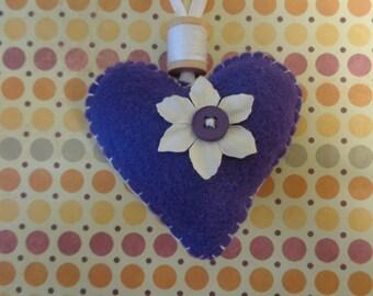 Handmade Purple Heart Ornament by Pepperland