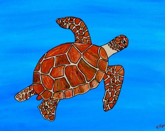 Smooth Sailing- Sea Turtle- Postcard (pack of ten postcards)