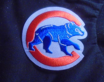Chicago Cubs 3 x 3  inch embroidered patches  iron  or sew in