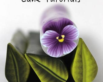 Polymer Clay Pansy, Hibiscus and Water Drop Cane Tutorial