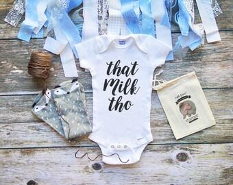 That Milk Tho Baby Onesie® Cute Baby Boy & Girl Clothes - Infant Newborn Clothes - Milk Onesies - Baby Annoucement - M123