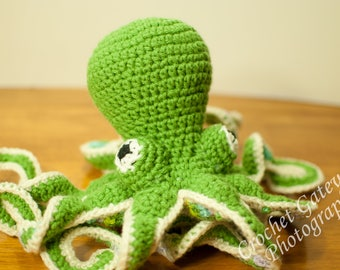 Octopus, Crochet baby Octopus, Green Baby Octopus, Sea World, Baby, Nursery, Sea Animals