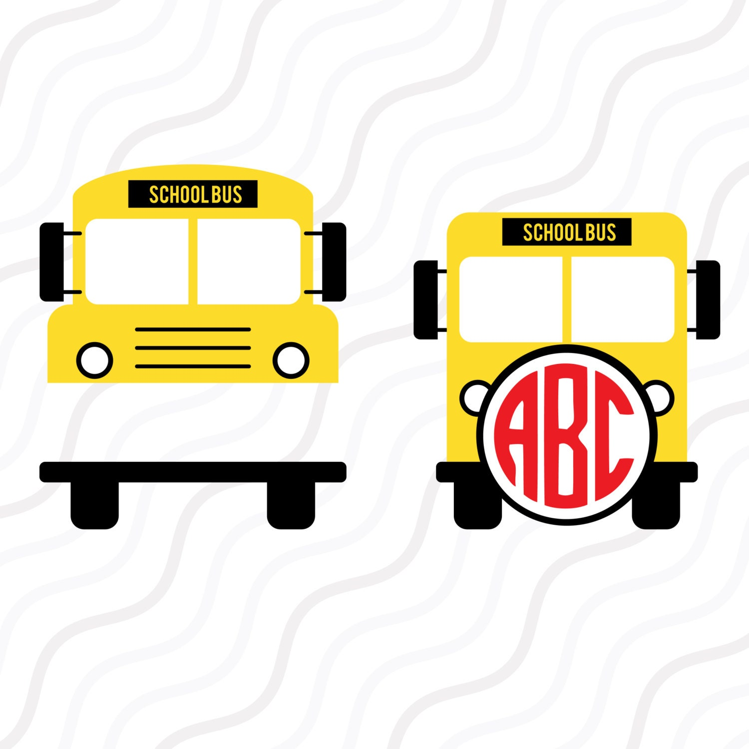 school bus svg back to school svgschool bus monogram svg cut rh etsy com School Bus Craft Template School Bus Craft Template