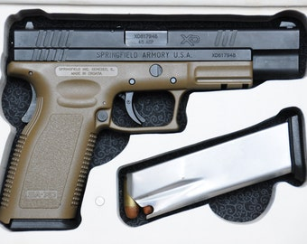 """Book Safe for Springfield Armory XD Series .45 ACP or 9mm 4"""" or 5"""" Barrel Hollow Gun Pistol - Made to Order"""