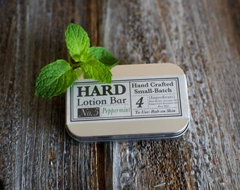 Peppermint Lotion-Shea Butter Hard Lotion Bar