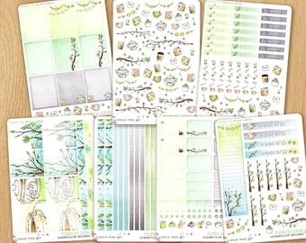 MARCH 2017 - Watercolor Stickers For Cold Times, Perfectly Fitting Erin Condren Life Planners and Happy Planners: FULL KIT