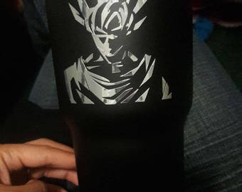 Goku chrome yeti decal dragonballz