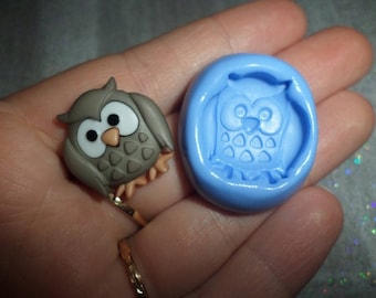 Pretty Owl 2 x 2cm for molding polymer clay mold