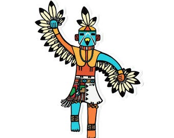 Eagle dancer sticker