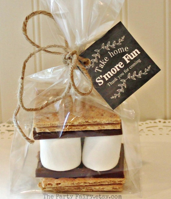 Diy Wedding Party Favors: S'mores Party Favor Kits 12 S'mores Favor Kits With