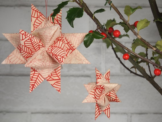 Natural with Red Leaves Hygge Danish Star