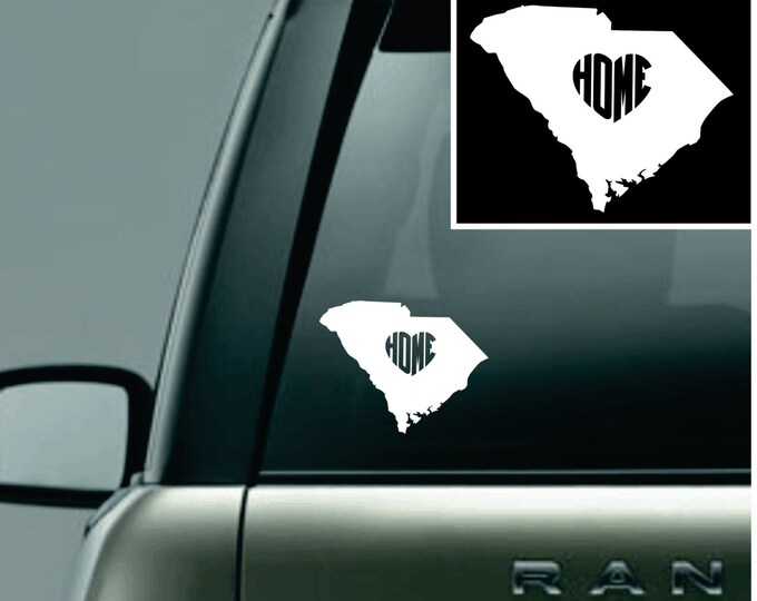 South Carolina Love Your State Car Decal