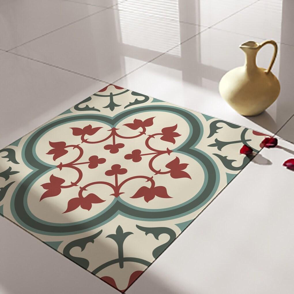 keuken tegels stickers : Traditionele Tegels Vloertegels Floor Vinyl Tile