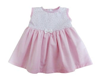 SOLD / / baby girl dress / Princess pink dress / 6/9 months birthday gift