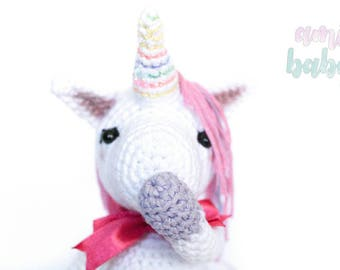 plush unicorn, unicorn toy, amigurumi unicorn, stuffed animal, amigurumi doll, soft toy, white unicorn, unicorn doll, decor room, crocheted,