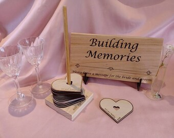 Personalised Wedding Wishing Well + 60 hearts Keepsake afterwards..