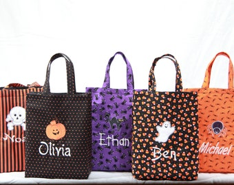 Design Your Personalized GLOW-in-the-dark Halloween Bag, Trick-or-Treat Bag, Embroidered Totes